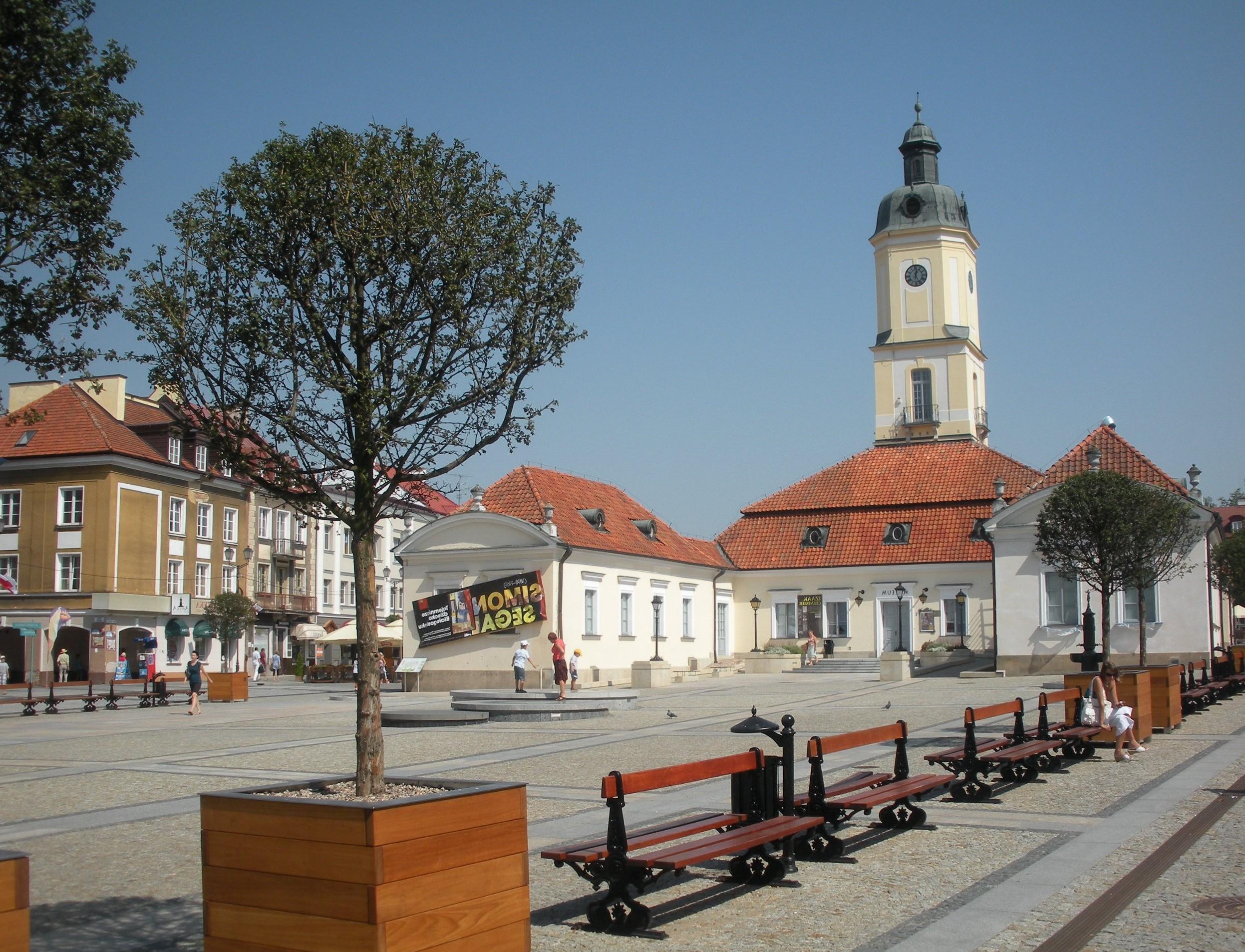 Небольшой город возле польско-белорусской границы