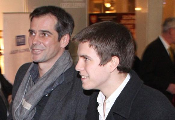 Павел Делонг с сыном Павлом