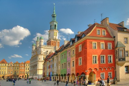 Poznan, Poland, Old Market Town Square