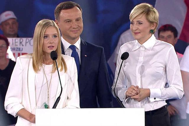 Анджей Дуда вместе с женой и дочерью